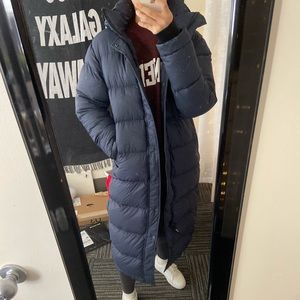 Aritzia goose down coat puffer long XS
